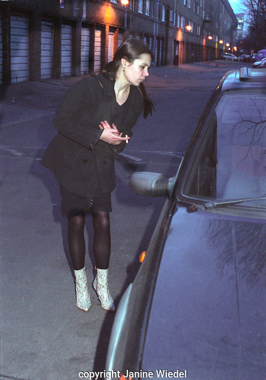 young prostitute stopped by car while soliciting for trade soliciting.