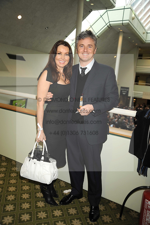 CAROL VORDERMAN and DES KELLY at the 2008 Hennessy Gold Cup held at Newbury racecourse, Berkshire on 29th November 2008.<br /> <br /> NON EXCLUSIVE - WORLD RIGHTS