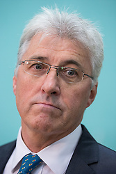 © Licensed to London News Pictures . 10/10/2014 . Heywood , UK . UKIP candidate JOHN BICKLEY pictured after coming second . The count at the Heywood and Middleton by-election , following the death of sitting MP Jim Dobbin . Photo credit : Joel Goodman/LNP