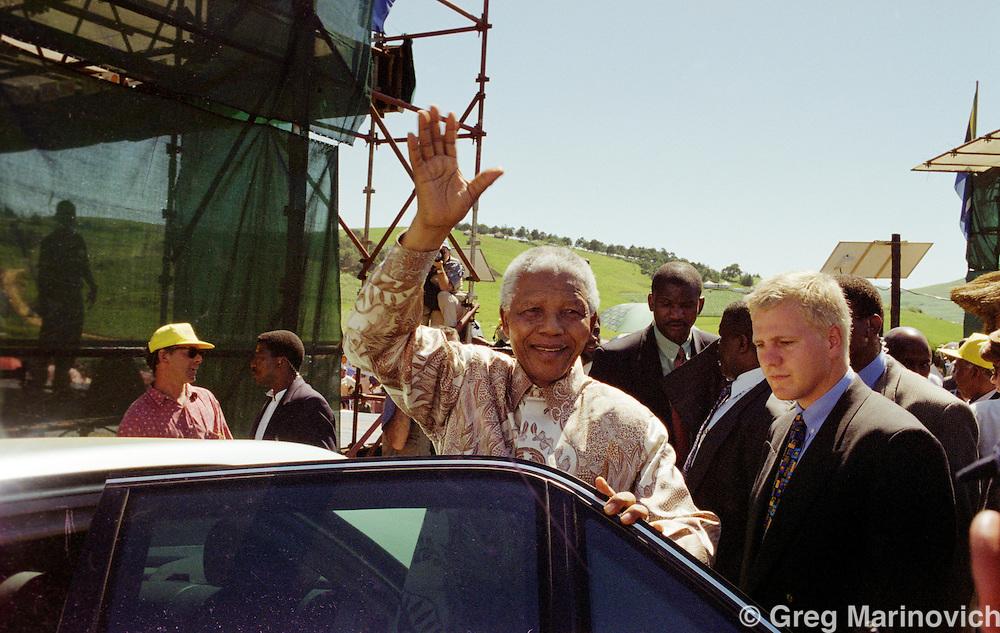 Eastern Cape, South Africa, 1999. President Nelson Mandela in the former Transkei, Eastern Cape. 24 February 1999