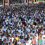 Eid al-Fitr al parco Dora di Torino. I tanti torinesi di religione musulmana hanno festeggiato Eid al-Fitr, la fine del mese del digiuno. Migliaia di persone, soprattutto egiziani e marocchini, hanno pregato sotto la tettoia del capannone dello strippaggio dell'ex Teksid