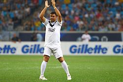 Ronaldo Nazario durante a 10ª edição do Jogo Contra a Pobreza - Match Against Poverty, na Arena do Grêmio, em Porto Alegre. FOTO: Lucas Uebel/Preview.com