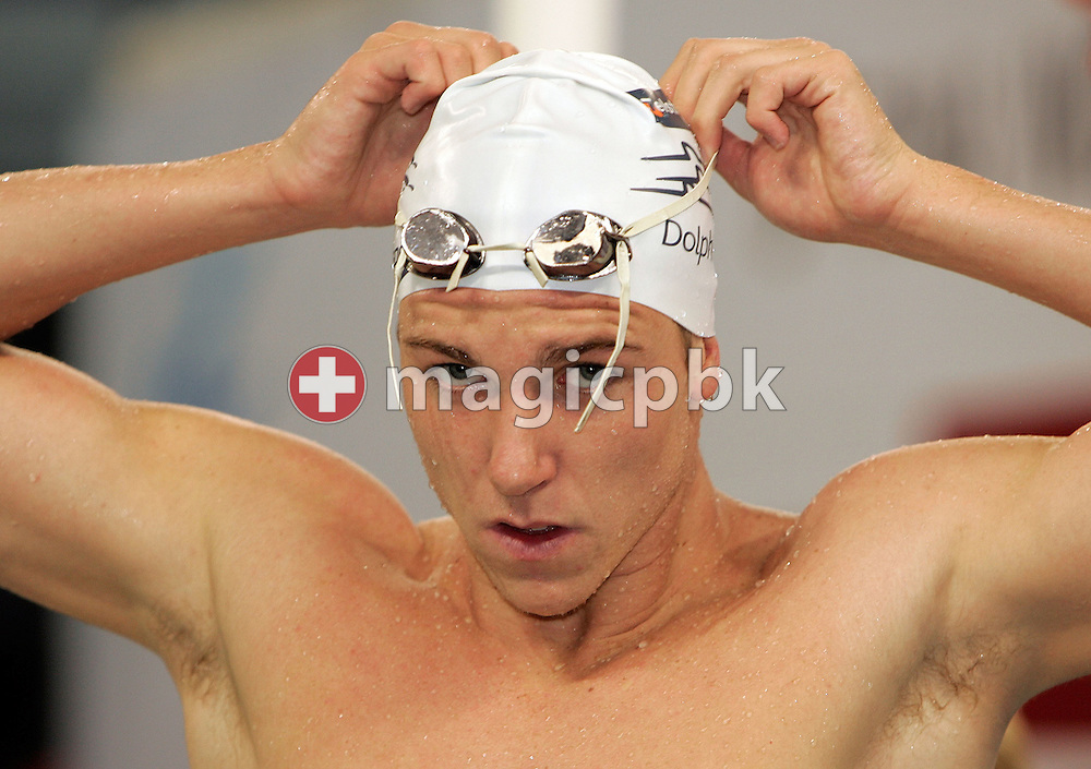 Grant Brits of Australia is pictured during a training session two days prior to the beginning of the 8th FINA World Swimming Championships (25m) held at Qi Zhong Stadium April 3rd, 2006 in Shanghai, China. (Photo by Patrick B. Kraemer / MAGICPBK)