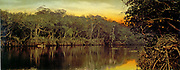 Florida, sunset on the Ocklawaha. photomechanical print : photochrom, colour.  c1899.  by  William Henry Jackson, 1843-1942, photographer.