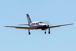 Piper PA-46-310P Malibu (N385R) on approach to Palo Alto Airport (KPAO), Palo Alto, California, United States of America