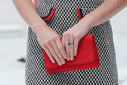 © Licensed to London News Pictures. 29/06/2017. London, UK. Detail of handbag. The Duchess of Cambridge leaves following a tour the V&A Exhibition Road Quarter's new spaces including The Sackler Courtyard, The Blavatnik Hall and The Sainsbury Gallery. Photo credit: Dinendra Haria/LNP