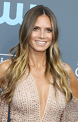 Heidi Klum at the 23rd Annual Critics' Choice Awards held at the Barker Hangar in Santa Monica, USA on January 11, 2018.