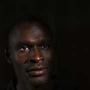 A portrait of David Rudisha, Kenya, who broke his own World Record in winning the Men's 800m at the 2012 Olympics, at the Adidas Grand Prix Press Conference, Hyatt Grand Central, New York ahead of the Adidas Grand Prix at Icahn Stadium, Randall's Island. Manhattan, New York. 24th May 2012. Photo Tim Clayton
