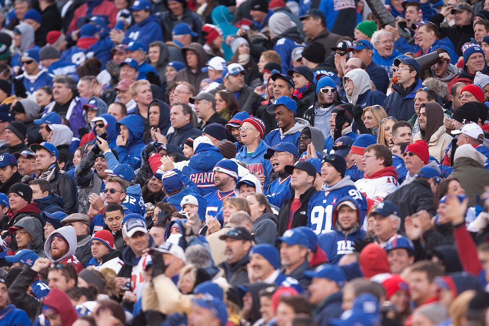 EAST RUTHERFORD, NJ - NOVEMBER 28: A general view of Giants fans in the stands during the game between the New York Giants and the Jacksonville Jaguars on November 28, 2010 at the New Meadowlands Stadium in East Rutherford, New Jersey.The Giants defeated the Jaguars 24 to 20. (Photo by Rob Tringali) *** Local Caption ***