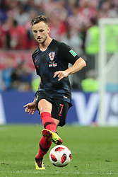 July 11, 2018 - Moscow, U.S. - MOSCOW, RUSSIA - JULY 11: Midfielder Ivan Rakitic of Croatia National team during the semifinal match between Croatia and England at the FIFA World Cup on July 11, 2018 at the Luzhniki Stadium  in Moscow, Russia. (Photo by Anatoliy Medved/Icon Sportswire) (Credit Image: © Anatoliy Medved/Icon SMI via ZUMA Press)