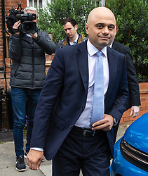© Licensed to London News Pictures. 28/05/2019. London, UK. Home Secretary Sajid Javid, who has announced that he will run to be the next leader of the Conservative Party and Prime Minister, in London. Photo credit: Rob Pinney/LNP