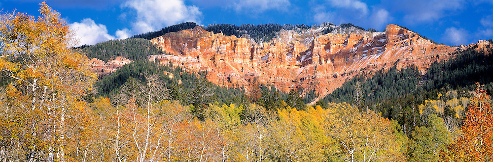 Cedar Breaks is a natural amphitheater stretching almost 3 miles across in Cedar Breaks NM, southern Utah.
