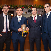 Tony Kelly (Capt), Gearoid O'Connell, Jack Brown and Niall Deasy, U21 Medal winners all from Ballyea, at the Clare U21 Hurling Final Winners Medal presentation in the West County Hotel on Saturday 06 Dec