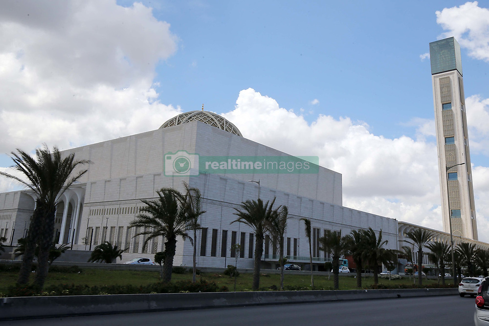May 4, 2019 - Algiers, Algeria - Algiers, May 04, 2019 Algeria: The Grand Mosque of Algiers, also known as Djamaa el Djazair, is the largest mosque in Africa and must open its doors. Facing the sea, the Great Mosque of Algiers, colossal work of Abdelaziz Bouteflika pushed to resign by demonstrations on April 2, would have cost two billion US dollars for construction. The mega-mosque complex covers an area of 400,000 square meters, making it the third largest mosque in the world. Its 20,000 square meter prayer room is designed to accommodate 37,000 worshipers at a time. The giant mosque also includes the world's tallest minaret, 265 meters high, designed to withstand a magnitude 9.0 earthquake. The project was overseen by the China State Construction Engineering Corporation (CSCEC), which has deployed approximately 2,300 engineers, construction officials and workers from China, Algeria and other African countries. Construction began in August 2012  (Credit Image: © Billal Bensalem/NurPhoto via ZUMA Press)