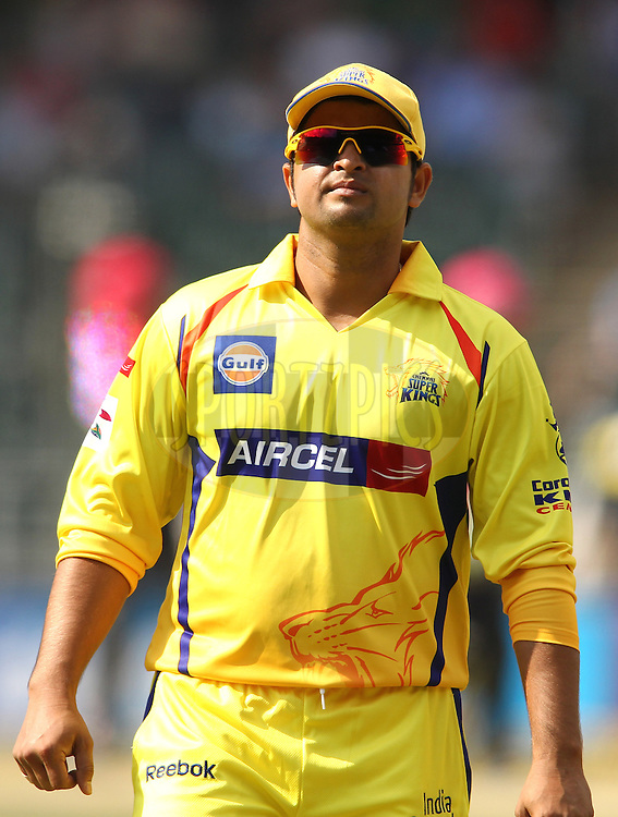 Suresh Raina of the Chennai Super Kings during match 3 of the Karbonn Smart CLT20 South Africa between Sydney Sixers and  and Chennai Super Kings held at The Wanderers Stadium in Johannesburg, South Africa on the 14th October 2012..Photo by Shaun Roy/SPORTZPICS/CLT20