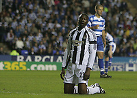 Photo: Lee Earle.<br /> Reading v Newcastle United. The Barclays Premiership. 30/04/2007.Newcastle's Shola Ameobi (L) looks dejected after going close.