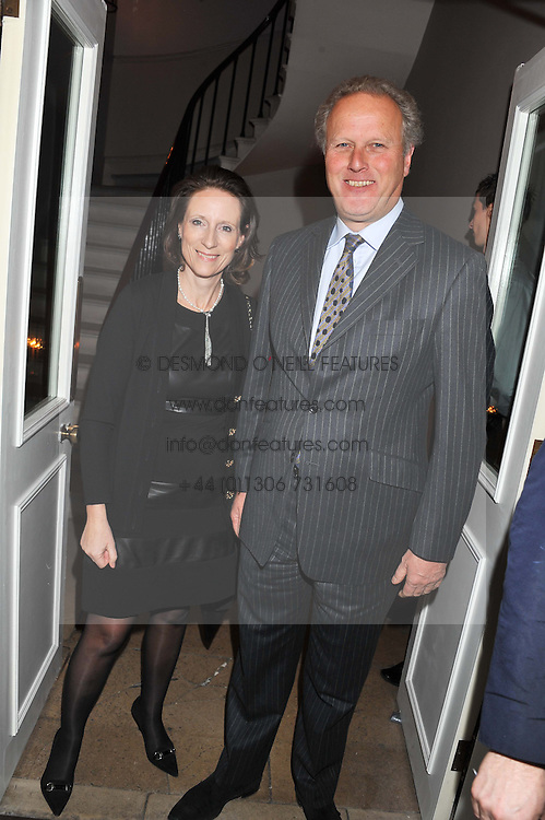 LORD & LADY MARLAND at a dinner for the Serpentine Gallery's Council held at Morton's, Berkeley Square, London on 5th December 2011.