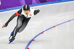 February 23, 2018 - Pyeongchang, Gangwon, South Korea - Daichi Yamanaka of  Japan at 1000 meter speedskating at winter olympics, Gangneung South Korea on February 23, 2018. (Credit Image: © Ulrik Pedersen/NurPhoto via ZUMA Press)