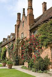 Roses on the walls of the Main House at Sissinghurst Castle Garden