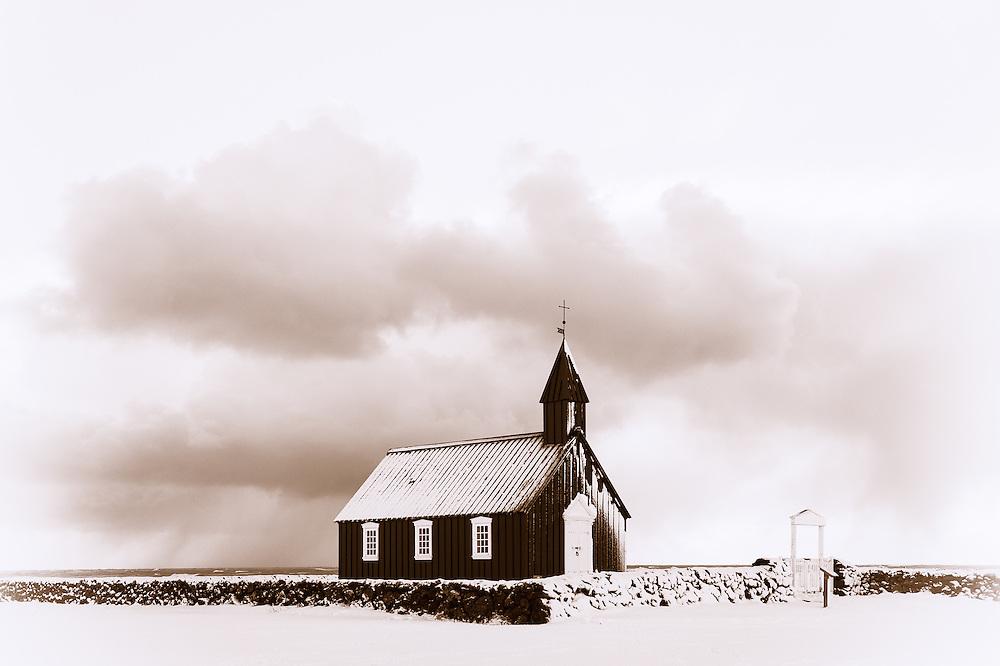 Church at Bu∂ir, Iceland