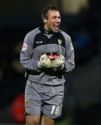 Burton Albion's Dean Lyness celebrates- Photo mandatory by-line: Matt Bunn/JMP - Tel: Mobile: 07966 386802 10/11/2013 - SPORT - FOOTBALL - Pirelli Stadium - Burton upon Trent - Burton Albion v Hereford United - FA Cup