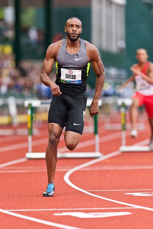 Olympic Trials Eugene 2012: men's 400 hurdles, Angelo Taylor,