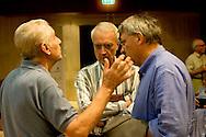 Roma 8 Settembre 2013<br /> Assemblea  in difesa della Costituzione.<br />  Stefano Rodotà, Paolo Flores d'Arcais, direttore di Micromega, Maurizio Landini, segretario generale Fiom-Cgil