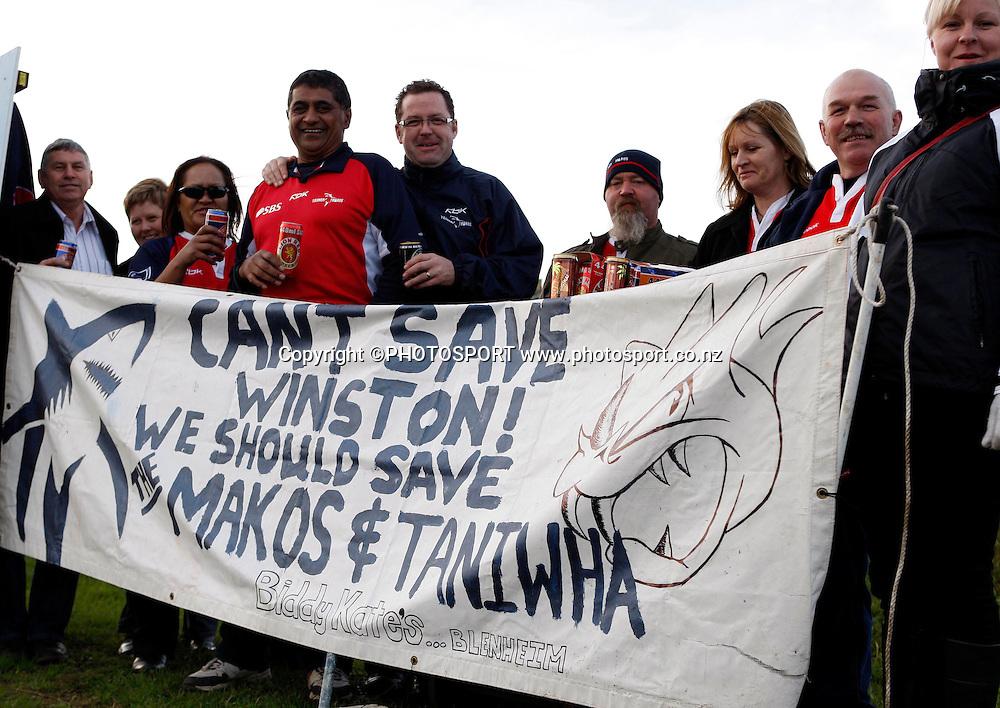Tasman Fans.<br />Air NZ Cup, Northland v Tasman, Okura Park Stadium, Whangarei, Saturday 6 September 2008. Photo: Renee McKay/PHOTOSPORT