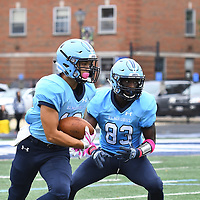 Football: Elmhurst College Bluejays vs. Washington University (Missouri) Bears.  Washington University had too many weapons in their arsenal for the Elmhurst. Washington University wins 23-10.