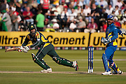 Shoaib Malik bats during the ICC World Twenty20 Cup Final between Sri Lanka and Pakistan at Lord's. Photo © Graham Morris (Tel: +44(0)20 8969 4192 Email: sales@cricketpix.com)