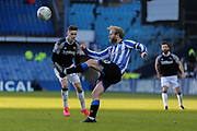 Sheffield Wednesday midfielder Barry Bannan  clears the ball during the EFL Sky Bet Championship match between Sheffield Wednesday and Derby County at Hillsborough, Sheffield, England on 29 February 2020.