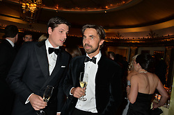 Left to right, JAKE WARREN and HENRY ST.GEORGE at the 26th Cartier Racing Awards held at The Dorchester, Park Lane, London on 8th November 2016.
