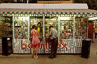 "10 AUG 2003, TASCHKENT/USBEKISTAN:<br /> Verkaufsbude fuer CD´s und Videos in der Vergnuegungsmeile ""Broadway"", Tschkent, Usbeksitan<br /> IMAGE: 20030810-01-076<br /> KEYWORDS: Tashkent, Uzbekistan, Haendler, Händler, Verkaufsstand, Laden, Geschaeft, Geschäft, Handel"