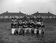 08/02/1959<br /> 02/08/1959<br /> 02 February 1959<br /> F.A.I. Intermediate Cup Final: Bray Wanderers v Albert Rovers at Rutland Avenue, Dublin. The Albert Rovers team.