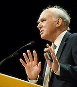 The Liberal Democrats Annual Autumn Conference 2012 at The Brighton Centre, Brighton, East Sussex, Great Britain <br /> 22nd to 26th September 2012 <br /> Vince Cable<br /> Secretary of State for Business, Innovation and Skills <br /> and MP for Twickenham<br /> <br /> <br /> <br /> Photograph by Elliott Franks