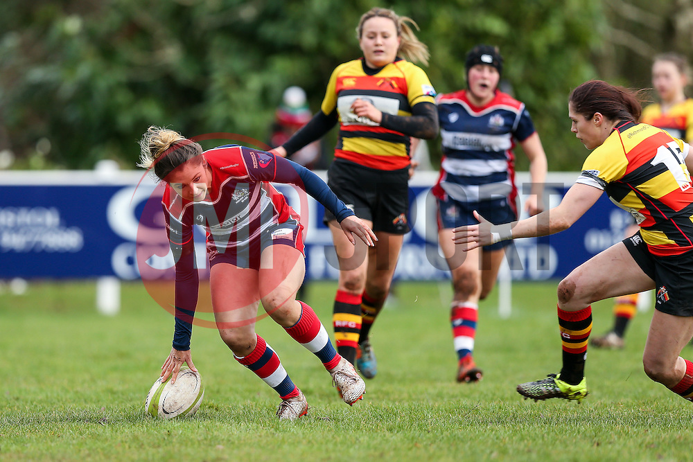 Amy Wilson Hardy of Bristol Ladies scores a try - Rogan Thomson/JMP - 15/01/2017 - RUGBY UNION - Cleve RFC - Bristol, England - Bristol Ladies Rugby v Richmond WRFC - RFU Women's Premiership.