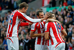 Jonathan Walters of Stoke City celebrates scoring a goal to make it 2-1 - Photo mandatory by-line: Rogan Thomson/JMP - 07966 386802 - 19/10/2014 - SPORT - FOOTBALL - Stoke-on-Trent, England - Britannia Stadium - Stoke City v Swansea City - Barclays Premier League.
