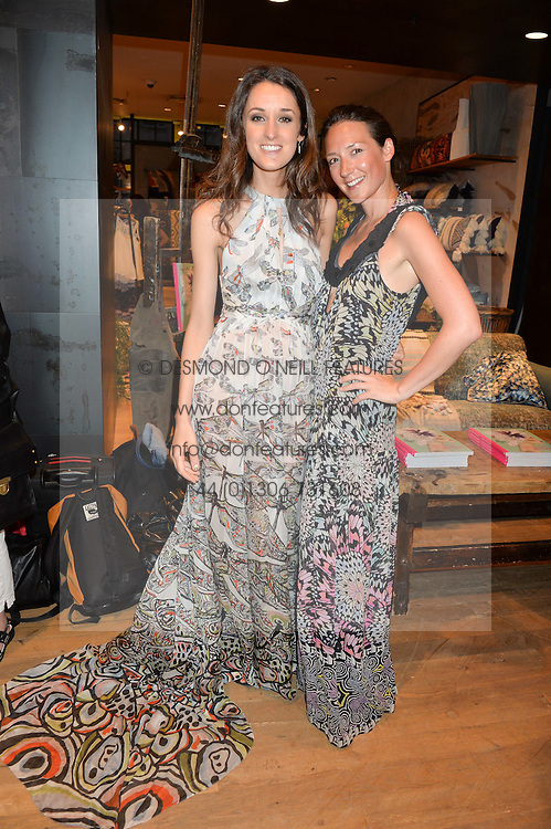 Left to right, ROSANNA FALCONER and Illustrator ELLIE VANDOORNE at a party to celebrate the launch of Matthew Williamson: Fashion, Print and Colouring Book held at Anthropologie, 158 Regent Street, London on 8th September 2016.