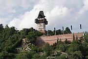 Schlossberg und Uhrturm, UNESCO Welterbestätte Stadt Graz – Historisches Zentrum, Steiermark, Österreich | Schlossberg and clock tower, a UNESCO World Heritage Site city of Graz - Historic Centre, Steiermark, Austria