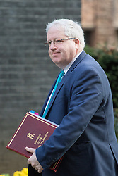 Downing Street, London, February 28th 2017. Chancellor of the Duchy of Lancaster Patrick McLoughlin attends the weekly cabinet meeting at 10 Downing Street in London.