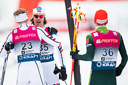 March 10, 2018 - Oslo, NORWAY - 180310 Magnus Krog and Mikko Kokslien of Norway after the Nordic Combined 10 km Gundersen on March 10, 2018 in Oslo..Photo: Jon Olav Nesvold / BILDBYRN / kod JE / 160213 (Credit Image: © Jon Olav Nesvold/Bildbyran via ZUMA Press)