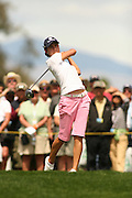 Apr. 1, 2006; Rancho Mirage, CA, USA; Lorena Ochoa tees off during the 3rd round of the Kraft Nabisco Championship at Mission Hills Country Club. ..Mandatory Photo Credit: Darrell Miho.Copyright © 2006 Darrell Miho .