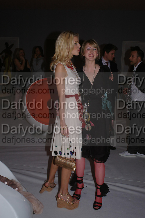 Donna Air  and Francesca Air. The Moet & Chandon Fashion Tribute 2005 to Matthew Williamson,  Old Billingsgate market, London. 16th February 2005. ONE TIME USE ONLY - DO NOT ARCHIVE  © Copyright Photograph by Dafydd Jones 66 Stockwell Park Rd. London SW9 0DA Tel 020 7733 0108 www.dafjones.com