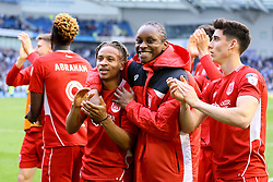 Bristol City players celebrates their win over Brighton & Hove Albion, 1-0 and are now confirmed as staying up - Mandatory by-line: Jason Brown/JMP - 29/04/2017 - FOOTBALL - Amex Stadium - Brighton, England - Brighton and Hove Albion v Bristol City - Sky Bet Championship
