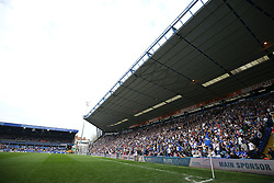 A general view of Birmingham City fans in the stands at St Andrews