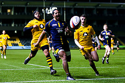 Ed Fidow of Worcester Cavaliers chases after the ball - Mandatory by-line: Robbie Stephenson/JMP - 16/12/2019 - RUGBY - Sixways Stadium - Worcester, England - Worcester Cavaliers v Wasps A - Premiership Rugby Shield