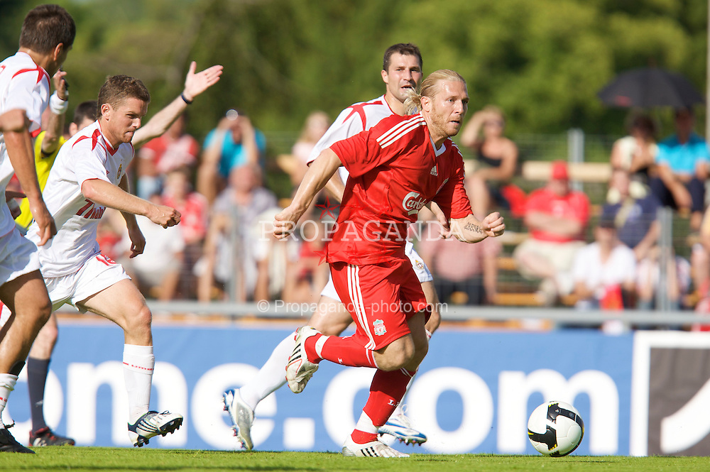 FRIBOURG, SWITZERLAND - Saturday, July 19, 2008: Liverpool's Andriy Voronin during a pre-season friendly match against Wisla Krakow at Stade St-Leonard. (Photo by David Rawcliffe/Propaganda)