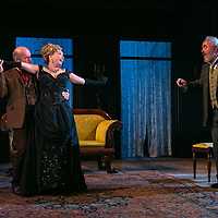 Ivanov by Anton Chekhov;<br /> New version by David Hare;<br /> Directed by Jonathan Kent;<br /> Emma Amos (as Marfusha Babakina);<br /> Peter Egan (as Matvyei Shabyelski);<br /> Des McAleer (as Mikhail Borkin);<br /> Chichester Festival Theatre, Chichester, UK;<br /> 14 October 2015.