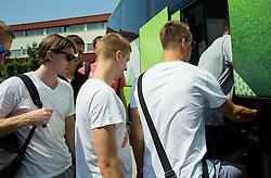 Luka Rupnik, Klemen Prepelic during meeting of Slovenian National Nasketball Team at the beginning of Training camp for Eurobasket 2015, on July 18, 2015 in Ljubljana, Slovenia. Photo by Vid Ponikvar / Sportida