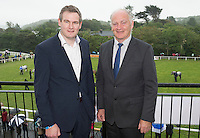 20/08/2015 Sean Kyne TD  who opened the Connemara Pony Show 2015 in Clifden Co. Galway with president of the Connemara Pony Show Tom Mac Lochlainn. Photo:Andrew Downes